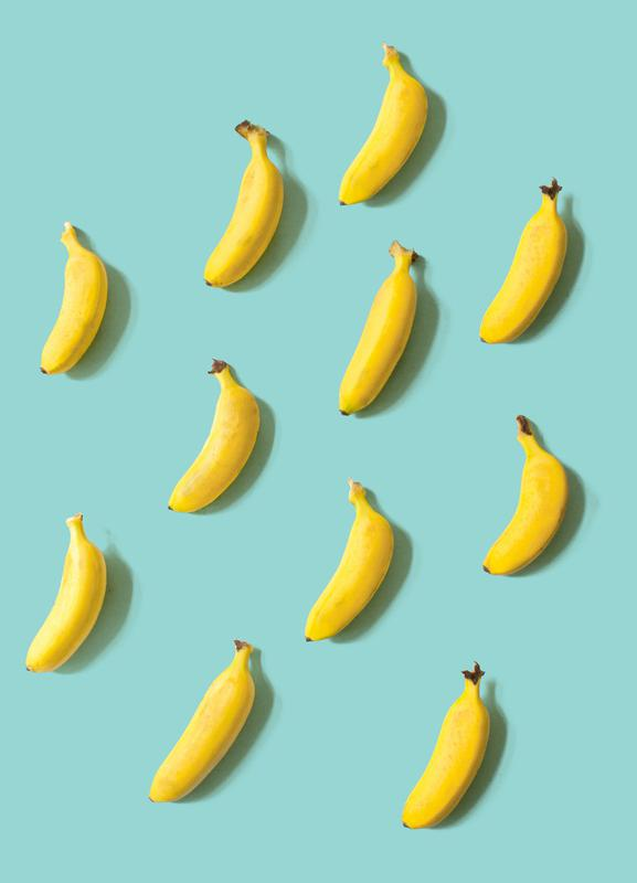 Banane canvas doek