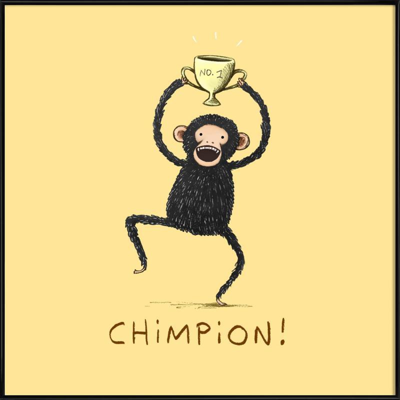 Chimpion -Bild mit Kunststoffrahmen