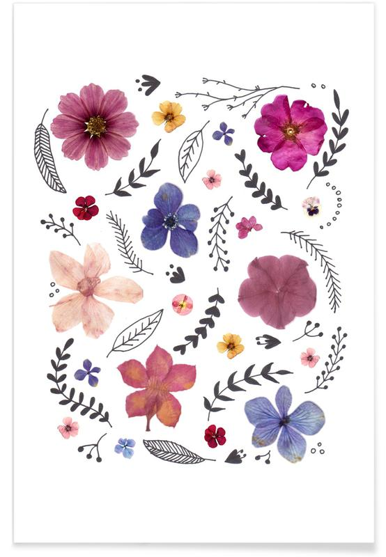 Pressed Flowers 03 Poster