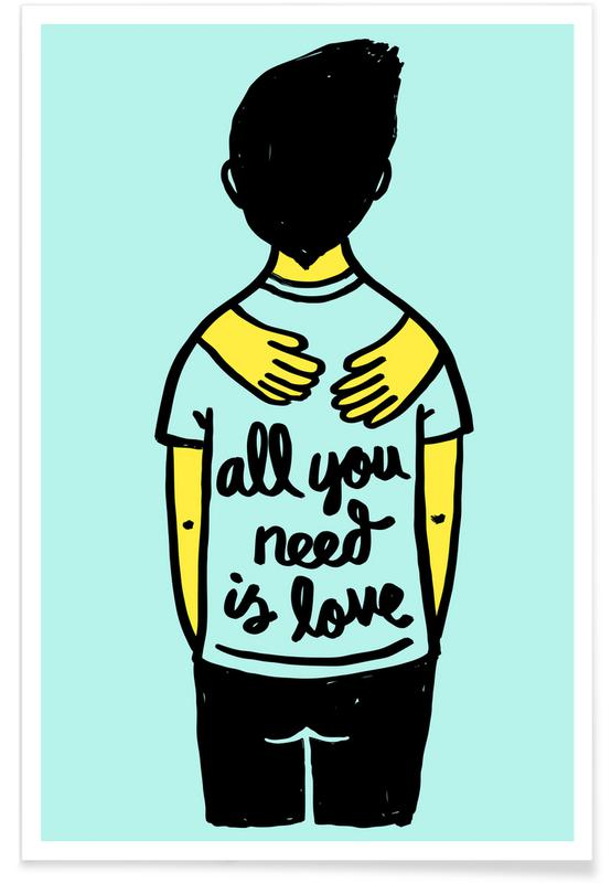 All You Need Is Love (Colour) Poster