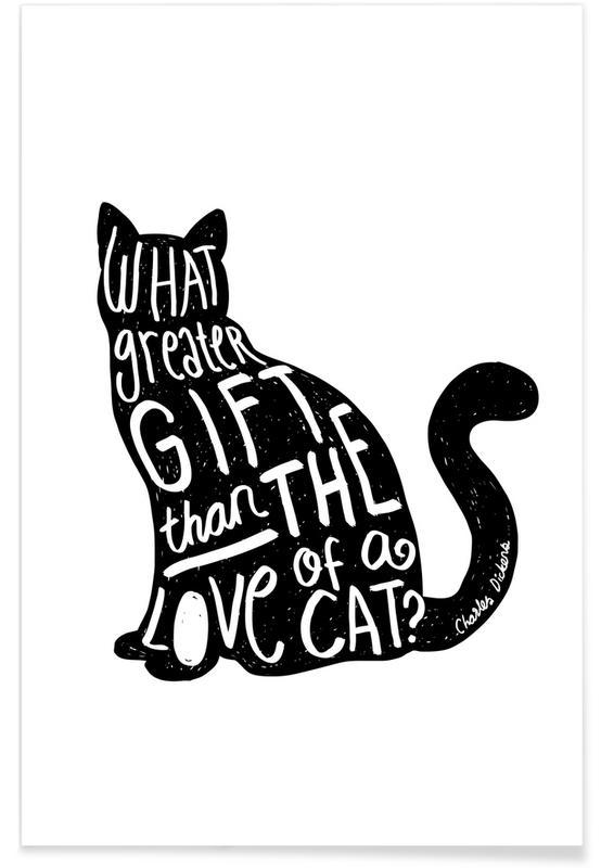 Dickens' Cat Poster