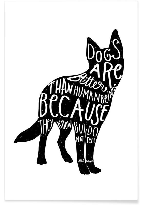 Dickinson's Dog Poster