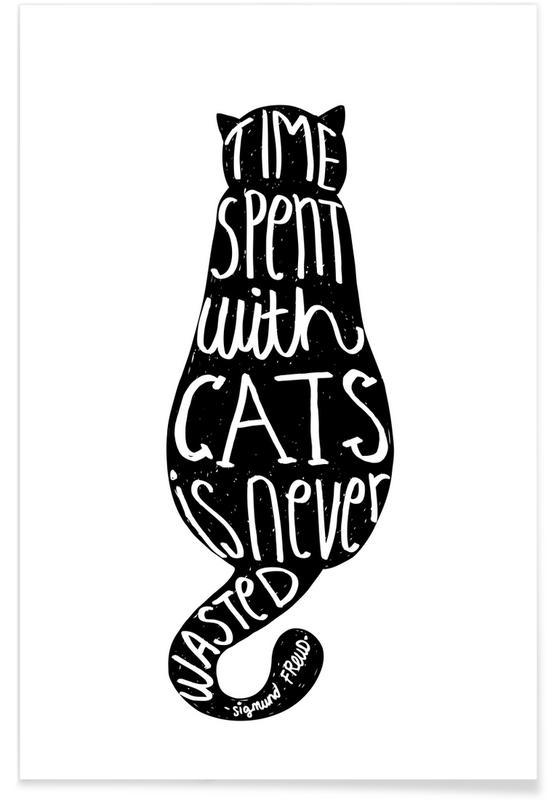 Freud's Cat Poster