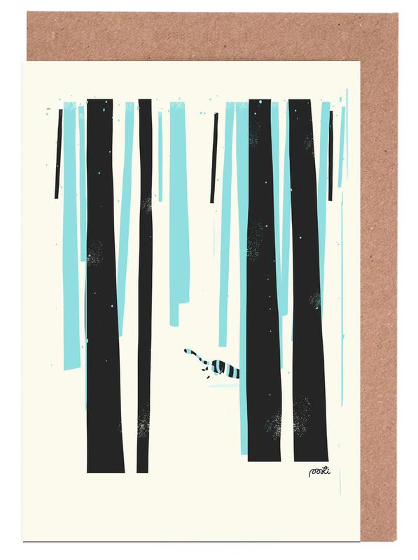 Forest 4 Greeting Card Set