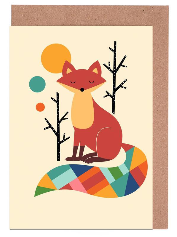 Rainbow Fox Greeting Card Set