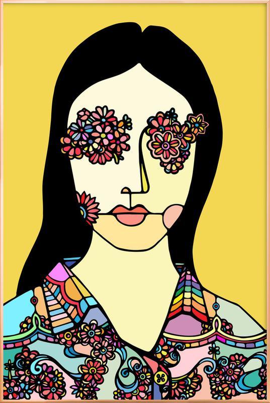 I See Flowers -Poster im Alurahmen
