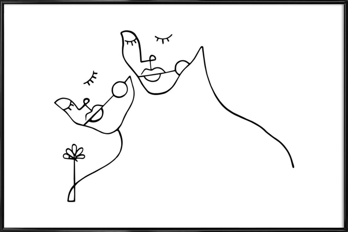 Lovers -Bild mit Kunststoffrahmen