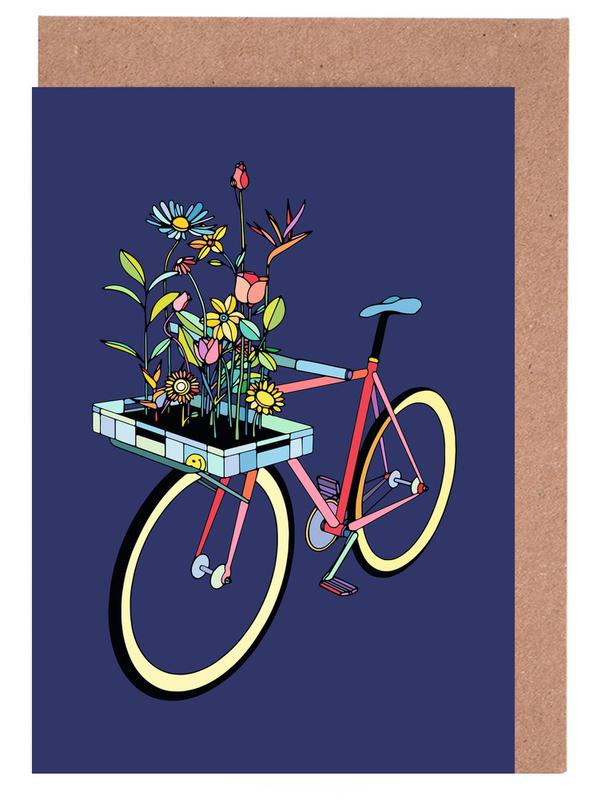 Bike and Flowers Greeting Card Set