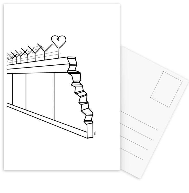 Heart Wall Postcard Set