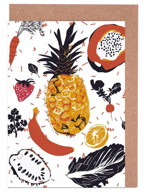 Fruit Veggie Party Greeting Card Set