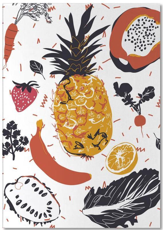 Fruit Veggie Party bloc-notes