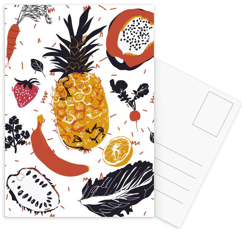 Fruit Veggie Party -Postkartenset