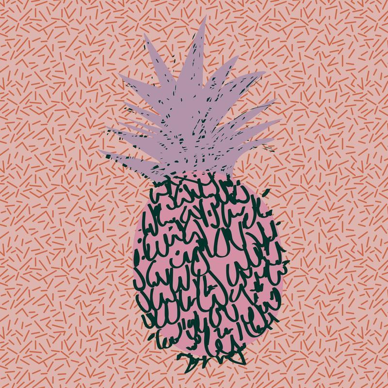 Memphis Pineapple Acrylic Print
