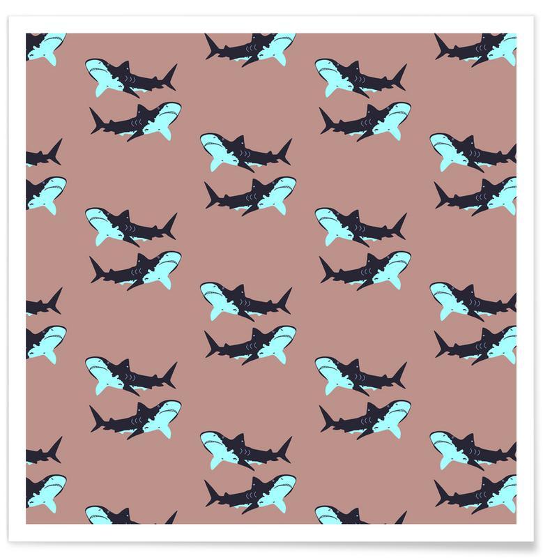 Blue Sharks -Poster