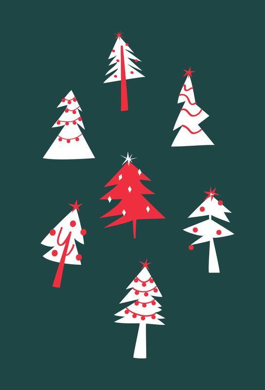 Holiday Pines Aluminium Print