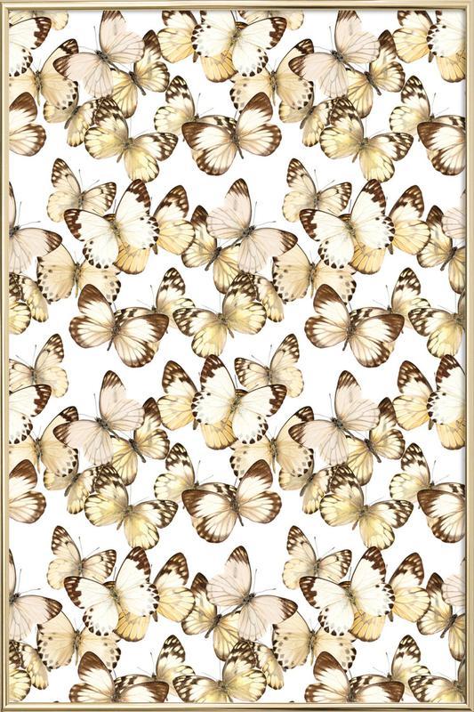 Butterflies -Poster im Alurahmen