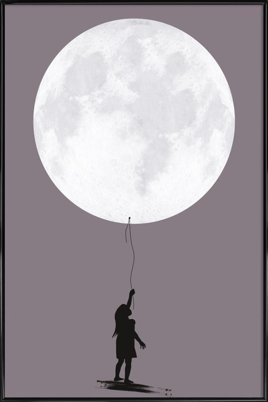 Moonballoon affiche encadrée