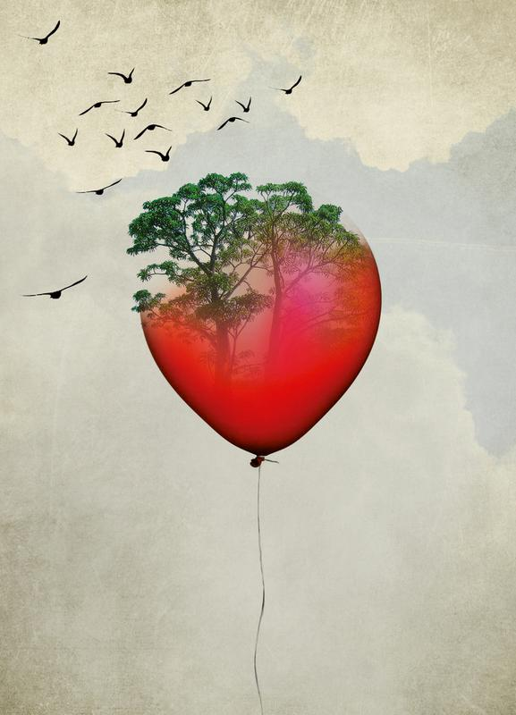 Red Balloon -Leinwandbild