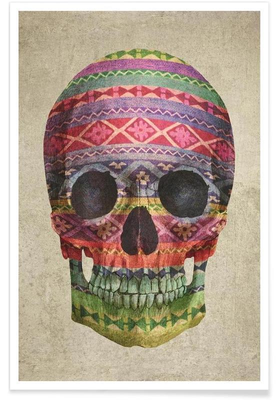 Navajo Skull -Poster