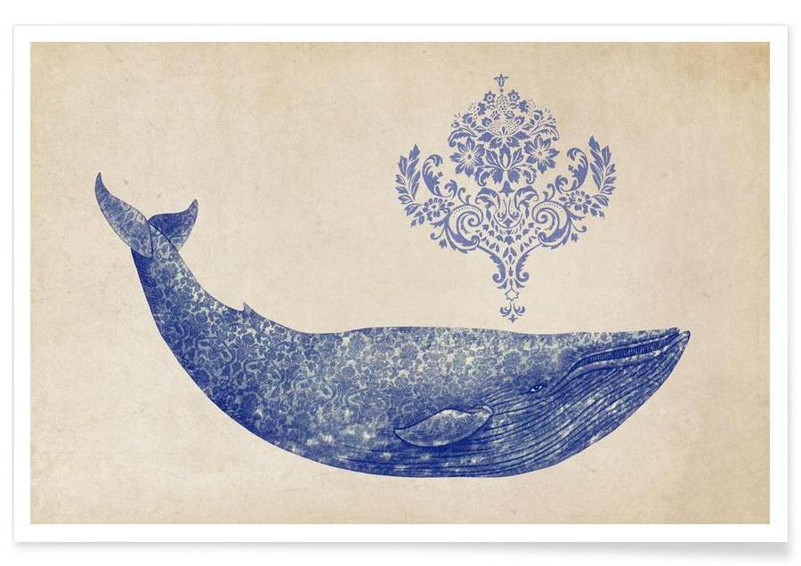 Damask Whale affiche