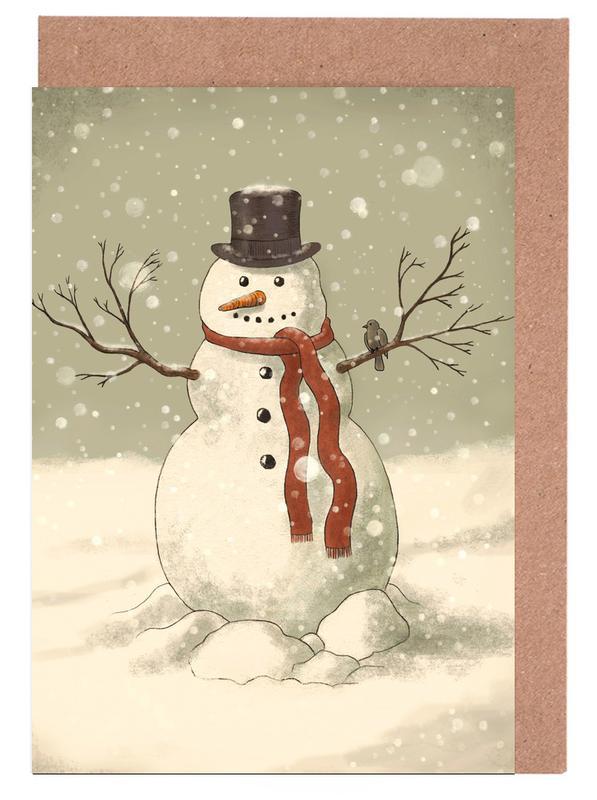 Snowman Greeting Card Set