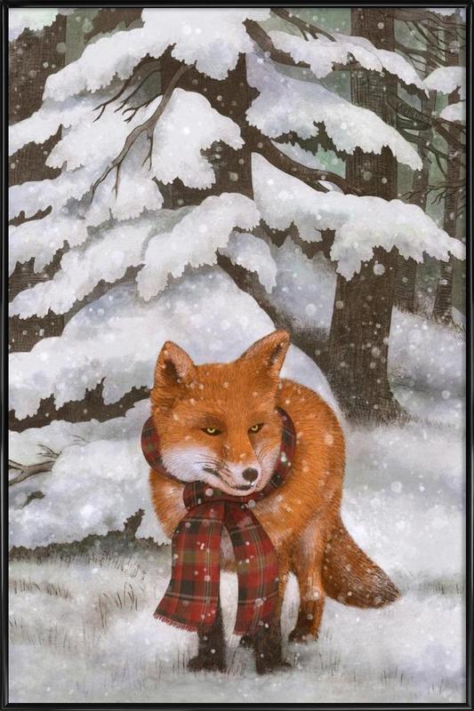Winter Fox Framed Poster