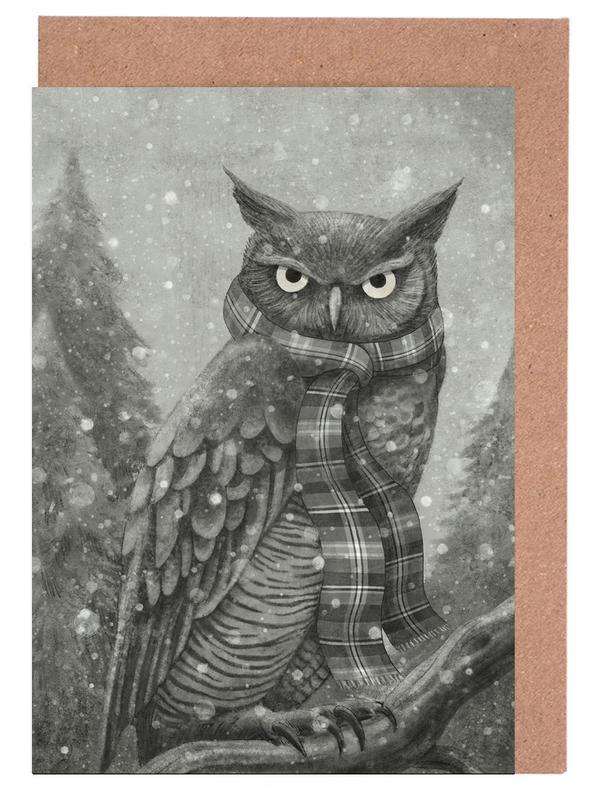 Winter Owl Greeting Card Set
