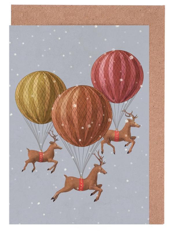 Flight of the deer Greeting Card Set