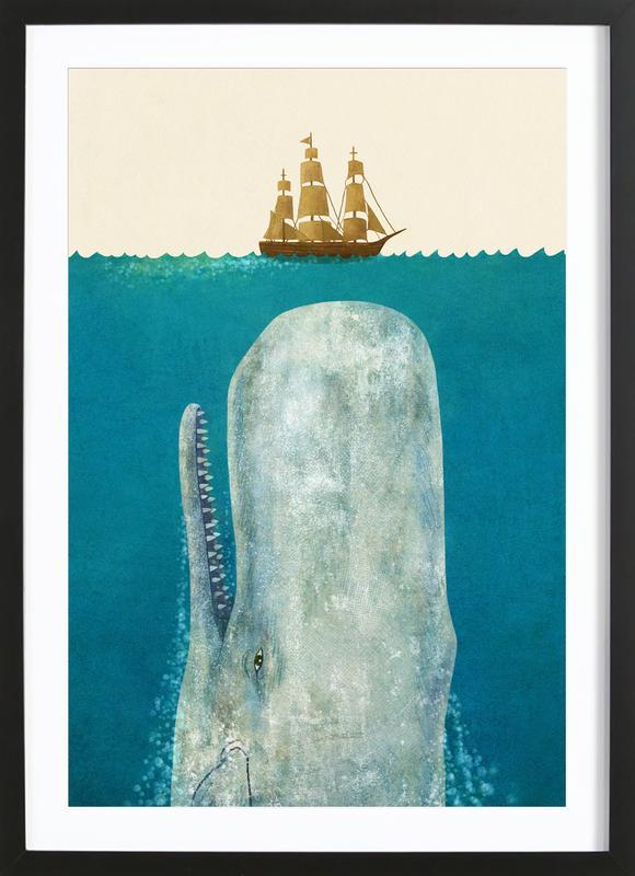 The Whale -Bild mit Holzrahmen