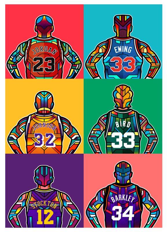 NBA Legends Canvas Print