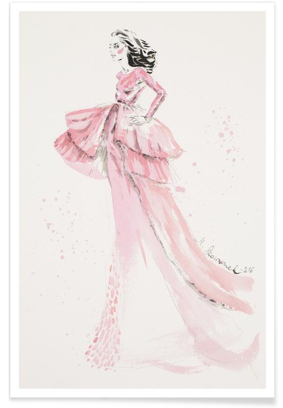 Pink gown -Poster