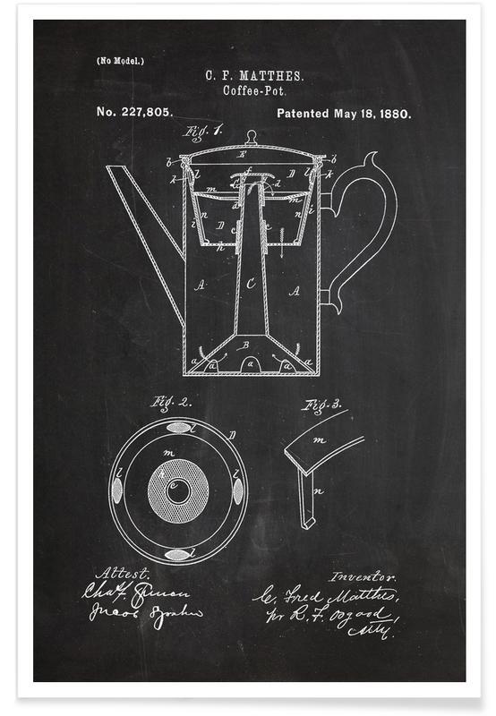 Cafetière - Brevet affiche