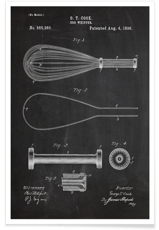 Whisk Patent Poster
