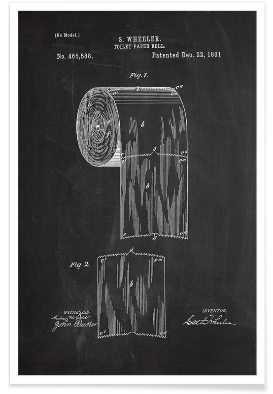Toilet Paper Patent Poster