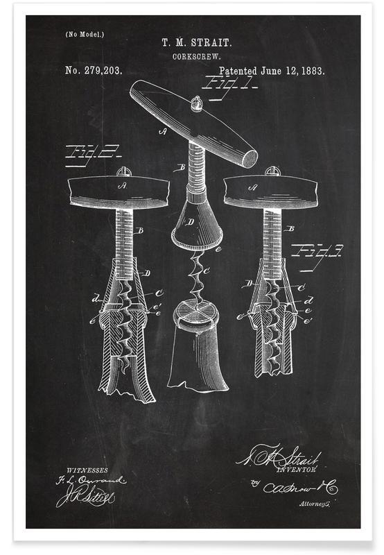 Corkscrew Patent Poster