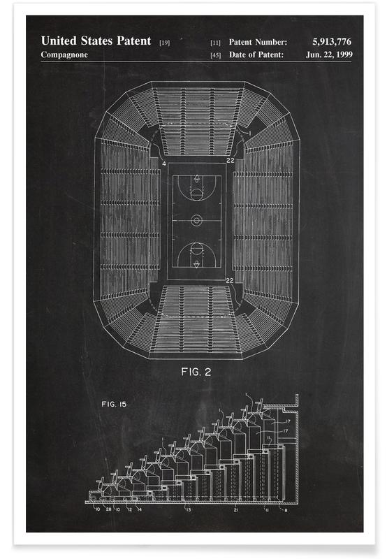 Basketball Court Patent Poster