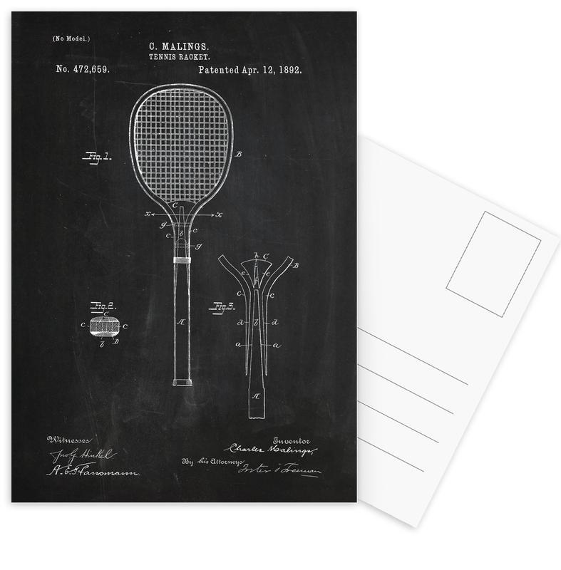 Tennis Racket -Postkartenset