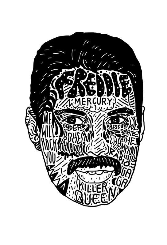 Freddie -Acrylglasbild