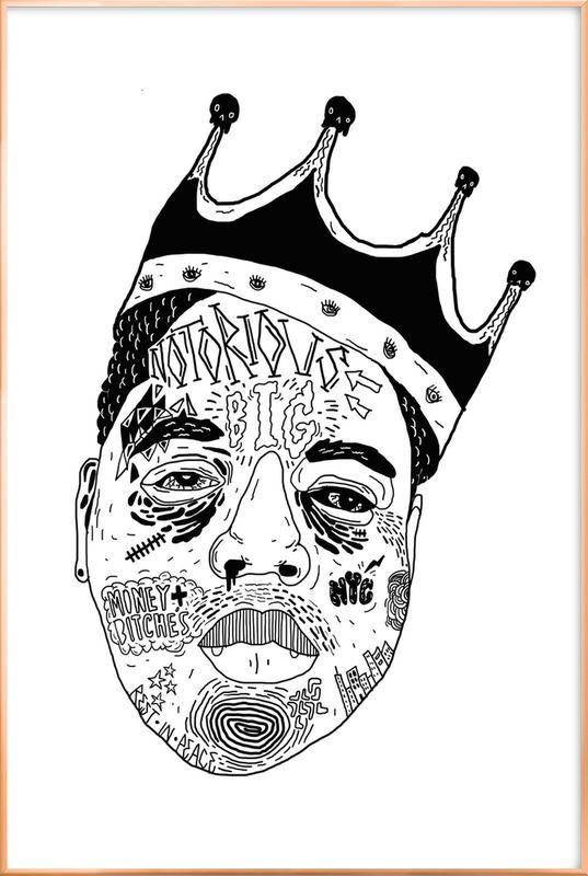 Biggie -Poster im Alurahmen