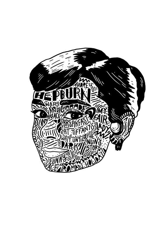 Audrey -Leinwandbild