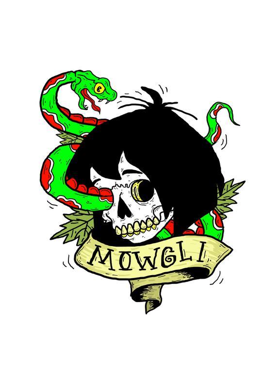 Mowgli -Leinwandbild