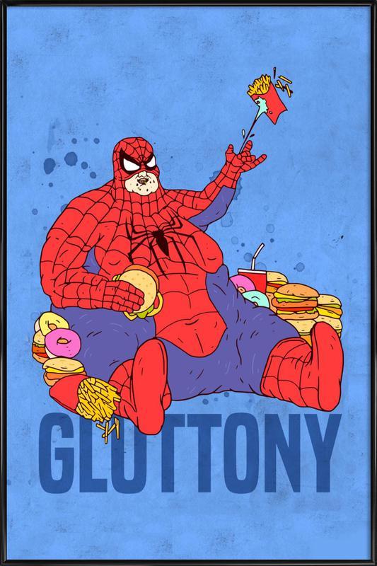 Gluttony -Bild mit Kunststoffrahmen