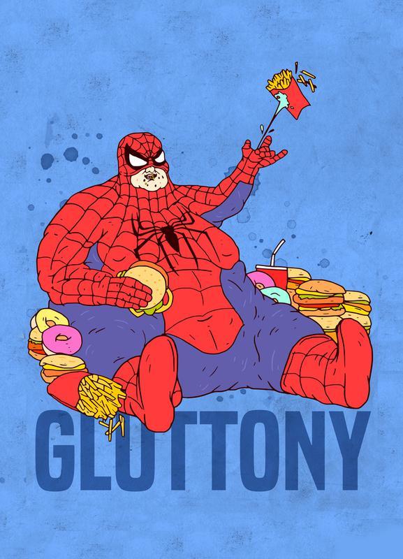 Gluttony -Leinwandbild