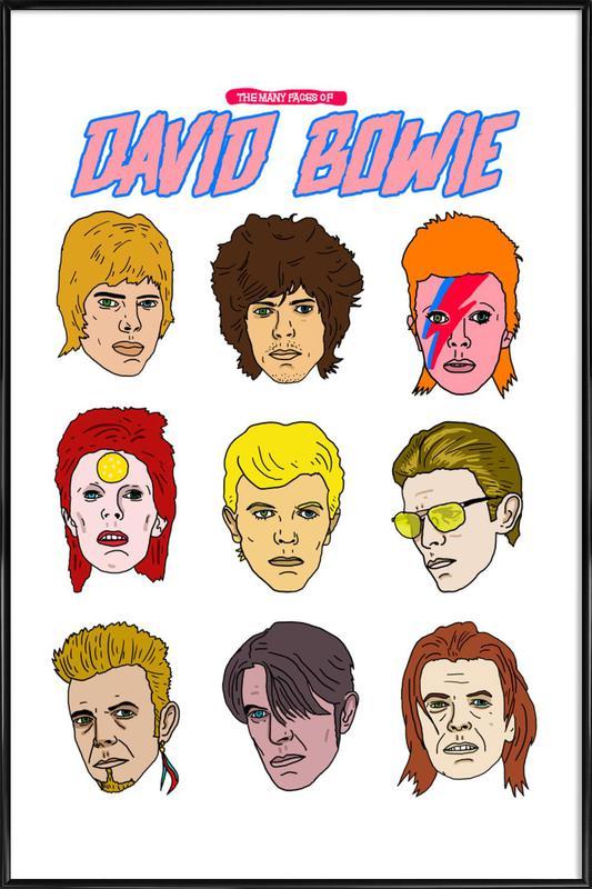 Bowie 2 ingelijste poster