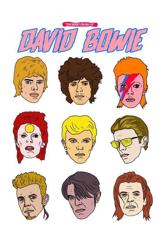 Bowie 2 -Acrylglasbild