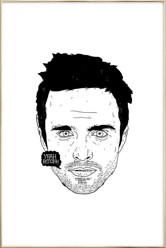 Jesse -Poster im Alurahmen