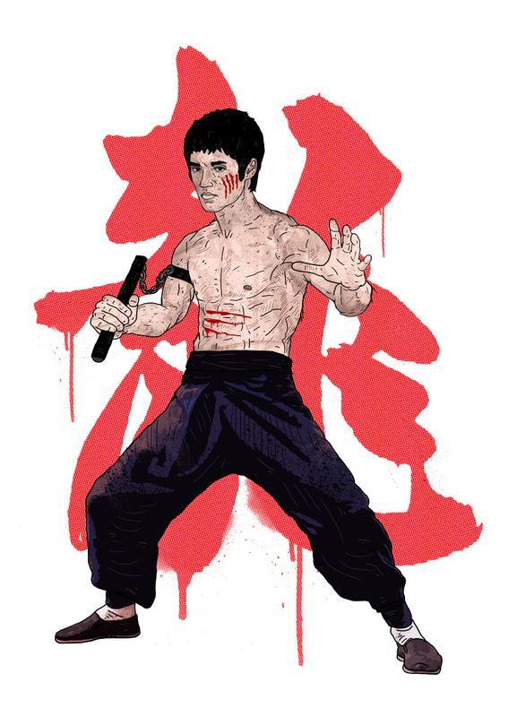 Bruce Lee -Leinwandbild