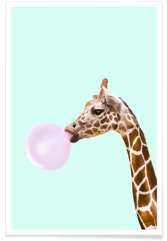 Giraffe Pop Art Poster