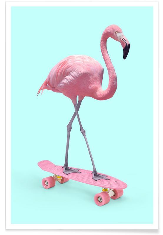 Skate Flamingo poster