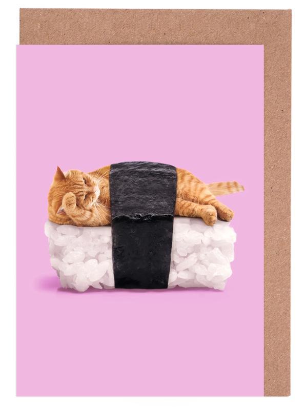 Sushi Cat Greeting Card Set